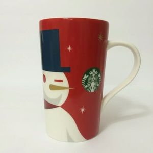 Starbucks Snowman Coffee Mug Holiday 2012